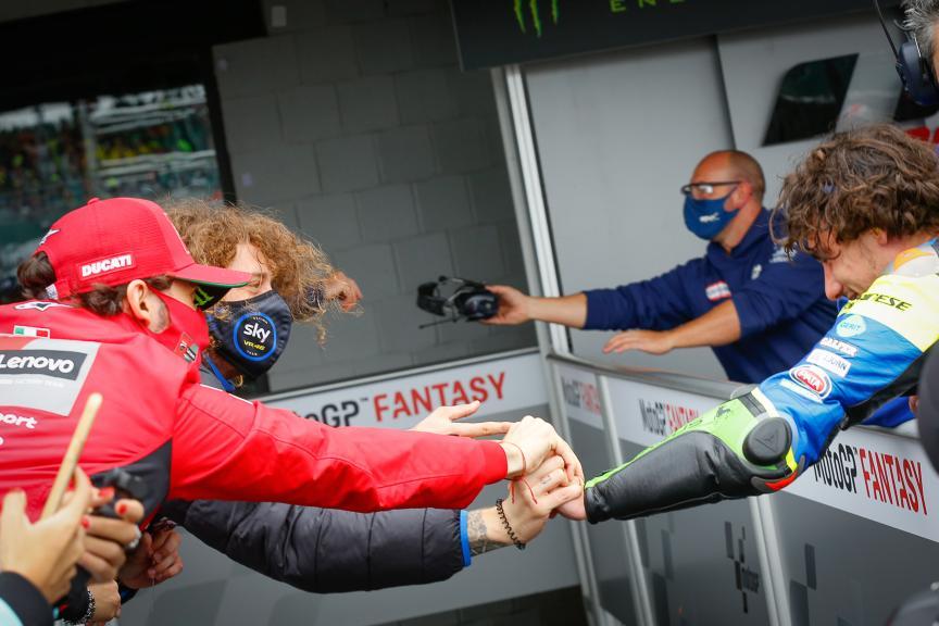 Niccolo Antonelli, Francesco Bagnaia, Marco Bezzecchi, Monster Energy British Grand Prix
