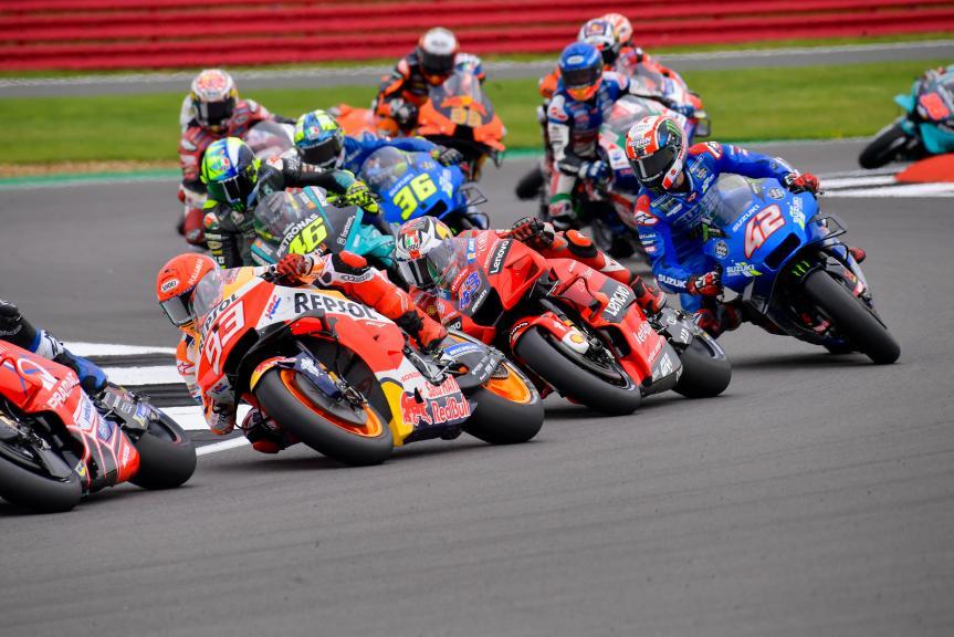 Marc Marquez, Jack Miller, Alex Rins, Monster Energy British Grand Prix