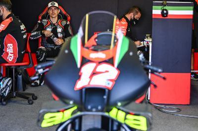 PRIMER MIRADA: Viñales prueba la Aprilia RS-GP en Misano