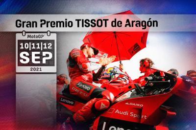Todos los horarios del Gran Premio TISSOT de Aragón