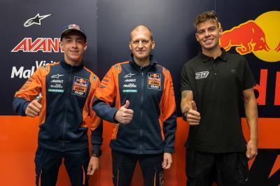 Acosta y Augusto Fernández, al Red Bull KTM Ajo Moto2™