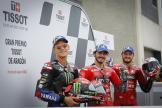 Francesco Bagnaia, Jack Miller, Fabio Quartararo, Gran Premio TISSOT de Aragón