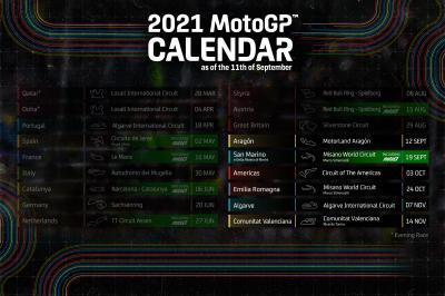 Confirmado el calendario de la final del Campeonato del Mundo FIM MotoGP ™ 2021