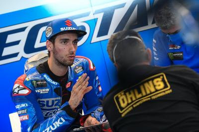 What happened to Alex Rins at his home Grand Prix?