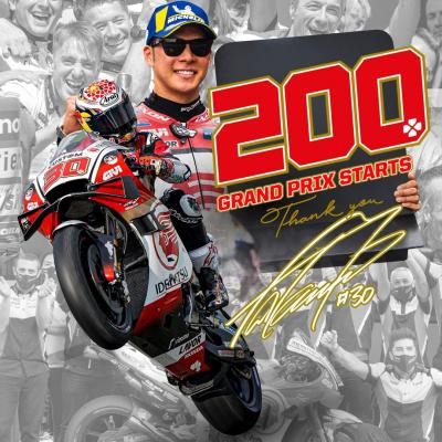 Today @takanakagami will start his 200th GP race, becoming the