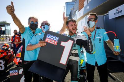 Moto3™ race recap: Foggia sparkles in Aragon thriller