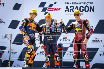 Moto2™ - GP d'Aragón : Les premiers mots du Top 3