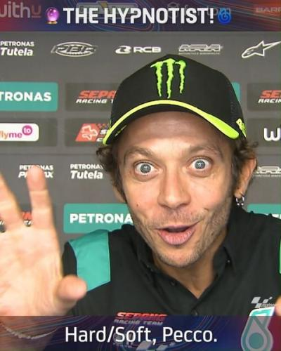 The Doctor and The Hypnotist! @valeyellow46 appeared to will @pecco63's