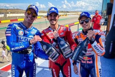 Your #AragonGP podium heroes!