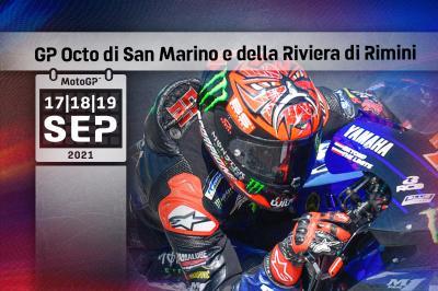 Horarios del GP Octo de San Marino y de la Riviera de Rimini