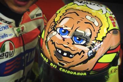 Tous les casques arborés par Rossi à Misano