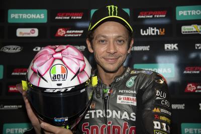 Et voici la livrée 2021 du casque spécial Misano de Rossi !