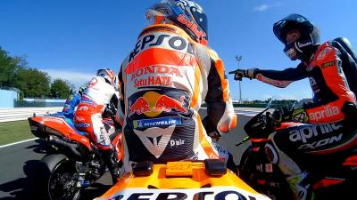 What caused the Espargaro brothers' on-track spat?
