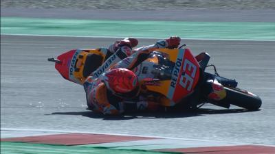Frustration & Sturz – nicht das beste FP3 für Marquez