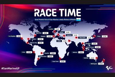Time schedule: Octo San Marino Grand Prix