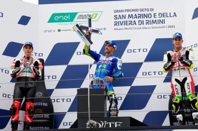 MotoE™: La voz del podio de la Carrera 2 en Misano