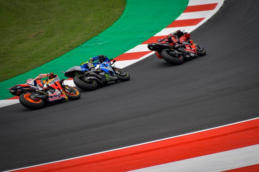 Joan Mir, Valentino Rossi, Marc Marquez, Gran Premio Octo di San Marino e della Riviera di Rimini