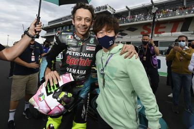 F1 driver Yuki Tsunoda enjoys the MotoGP™ magic in Misano