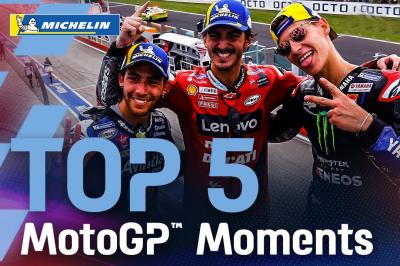 Top 5 Moments by Michelin   2021 #SanMarinoGP