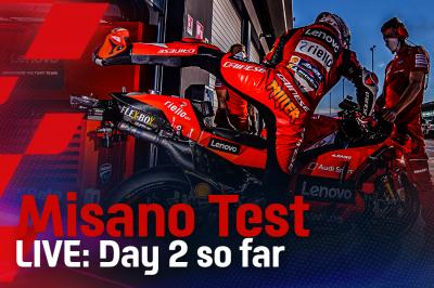 Misano Test LIVE update - schalte  um 13:30 (GMT+2) ein!