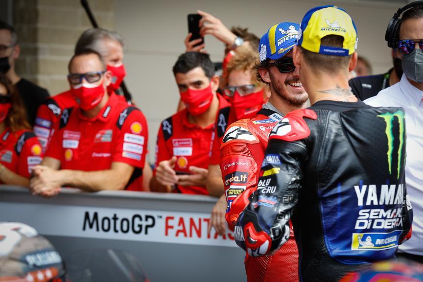 Fabio Quartararo, Francesco Bagnaia, Red Bull Grand Prix of The Americas