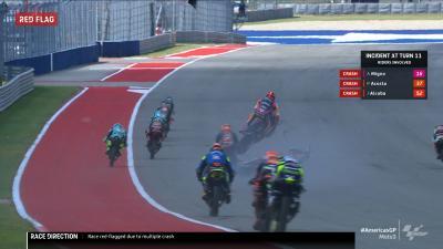 Moto3™ : Course interrompue après un second drapeau rouge