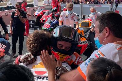 FREE: The full celebrations from Marc Marquez' stunning win