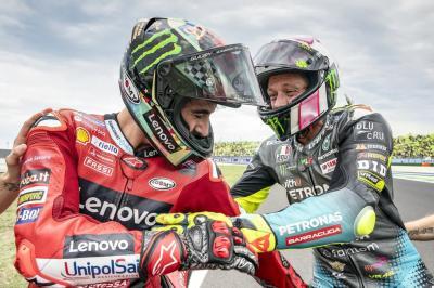 Rossi elogia Pecco perché come guida lui la Ducati...