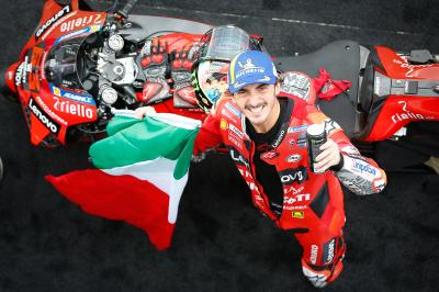 Bagnaia: Music videos, Misano and rising to stardom