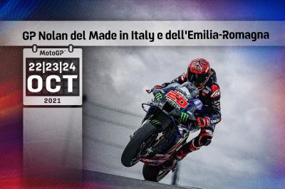 TIME SCHEDULE: Nolan Emilia Romagna Grand Prix