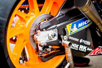 Why does the rear brake play such a crucial role in MotoGP™?