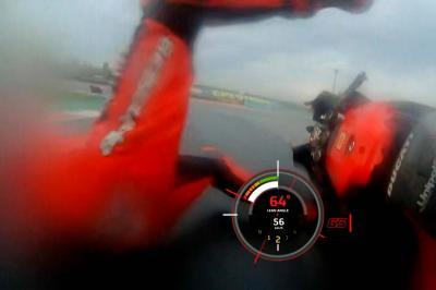 Title contender Bagnaia crashes unhurt in FP1
