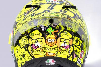 FOTO: il casco di Rossi per l'ultima gara di casa