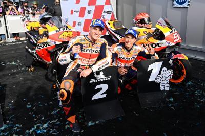 Pol Espargaró vuelve a sonreír con su primer podio con Honda