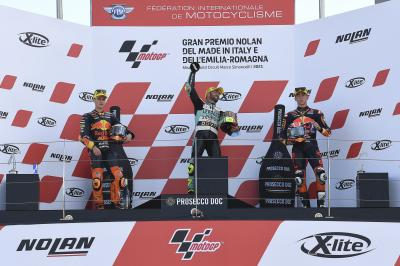Moto3™: Las impresiones del podio del GP de la Emilia-Romaña