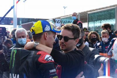 De campeón a campeón: Lorenzo felicita a Quartararo